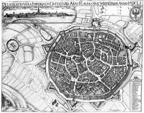 Reichsstadt Nördlingen 1651, Vedutenstich von Andreas Zeidler