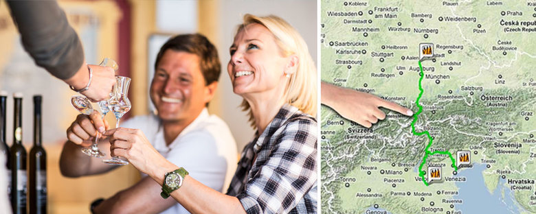 Tirol West Land Genuss Via Claudia Augusta Mit Finger Karte