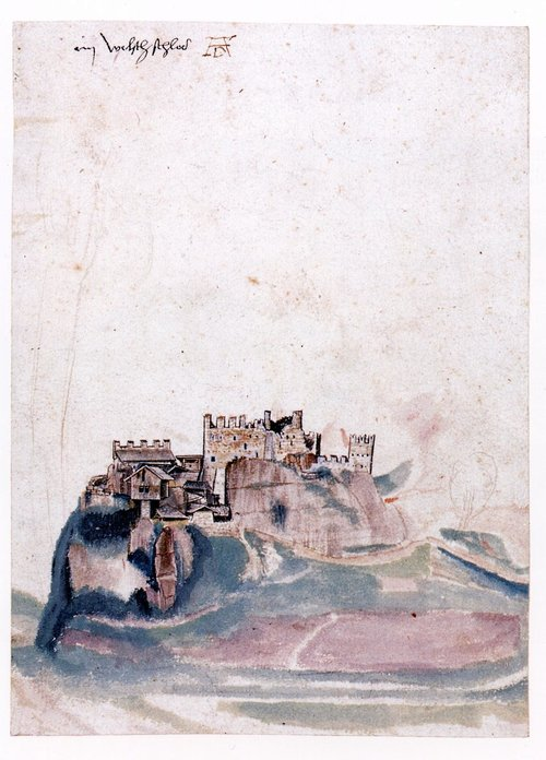 Albrecht Dürer, Castello di Segonzano 1494, Berlino Kupferstichkabinett