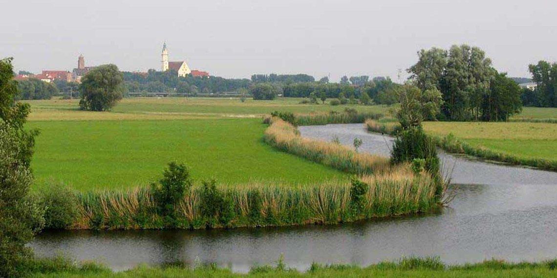 Donauwörth, Frühling, Zusammenfluss