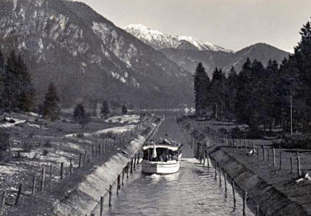 Kanal Plansee Heiterwangersee 1931