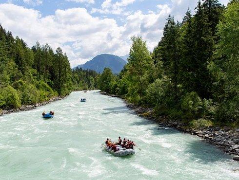 Rafting Foto Tirol Werbung