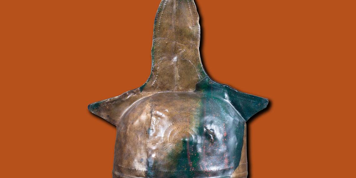 Bronzezeitlicher Kammhelm Museum Fliess