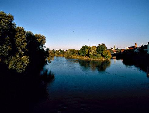 Mündung Wörnitz in Donauwörth, Donau Ries, Foto von Lois Lammerhuber