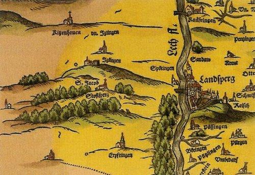 Historischer Stich Landsberg