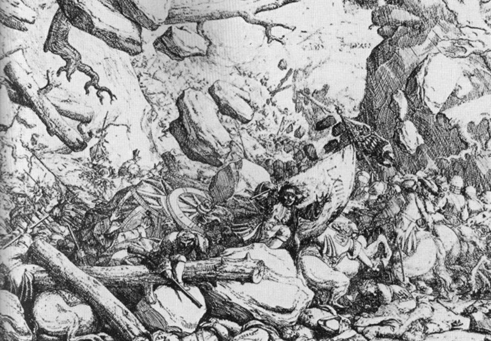 Steinlawine Oberinntal Freiheitskrieg
