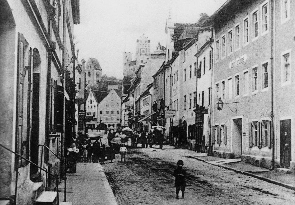 Reichsstraße von Norden um 1900