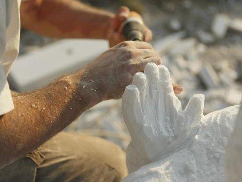 Kunst Marmor Bildhauer Arbeit Laas