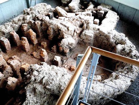 Villa Peiting Hypocausten Ausgrabung Pfaffenwinkel, Foto Peitinger Villa Rustica