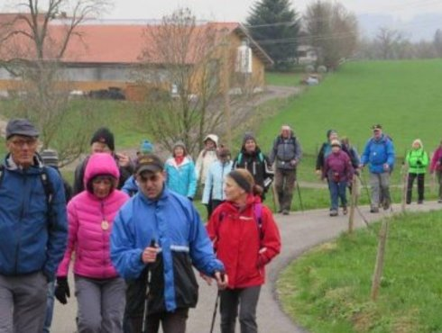 Wanderung Viele Wanderer
