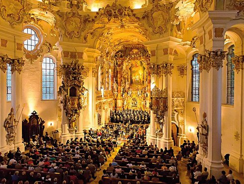 Konzert in Schongau, festlicher Sommer in der Wies