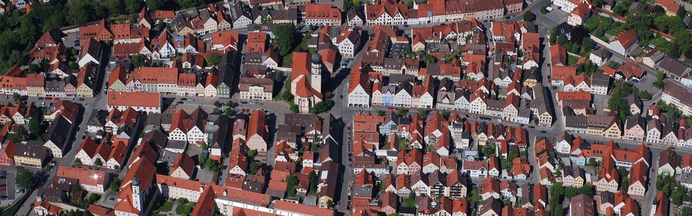 Luftbild Altstadt Schongau Lechrain