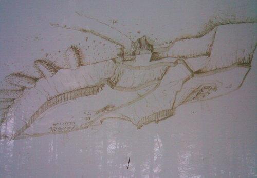 Heldenburg Zeichnung Platschka