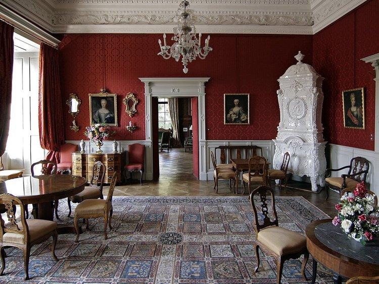Residenzschloss Öttingen, roter Salon