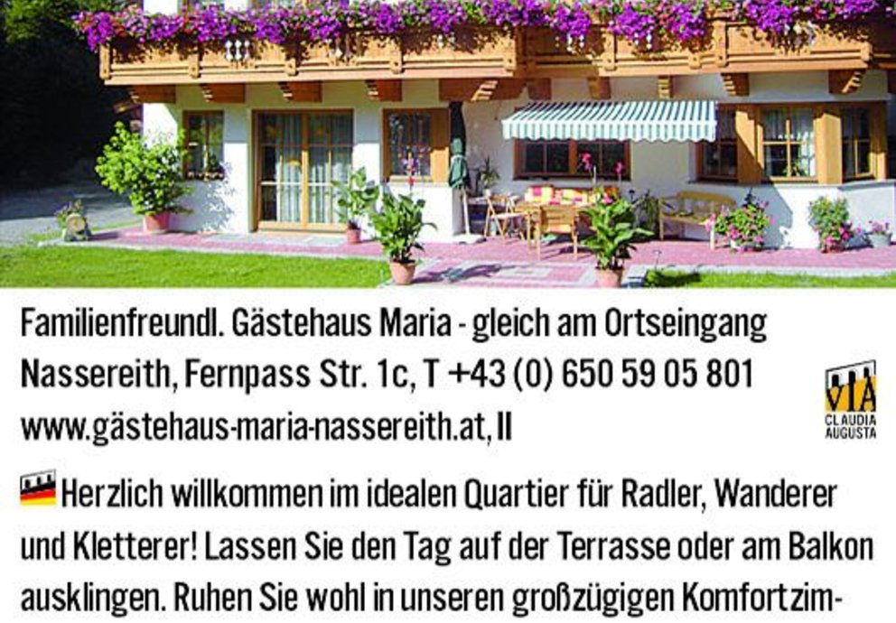 Nassereith Gästehaus Maria