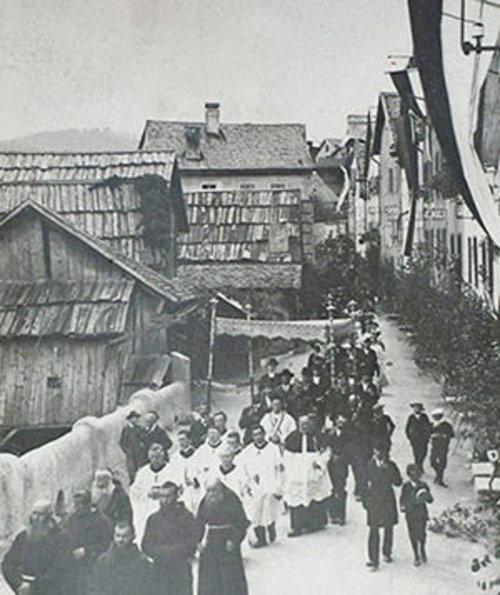 Foto Alte Ansicht Von Imst