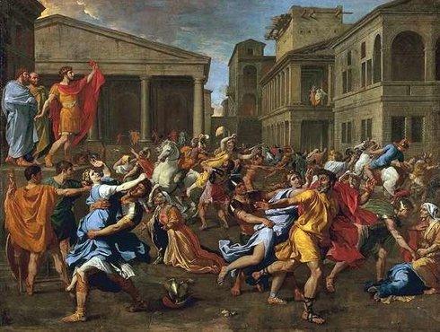 Nicolas Poussin L Enlevement Des Sabines 1637-1638