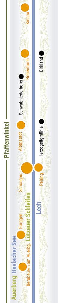 Übersichtskarte rechts Teilabschnitt 07 Schongau, Peitingen
