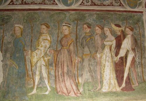 Runkelstein Tanzszene Foto Wikipedia DKrieger