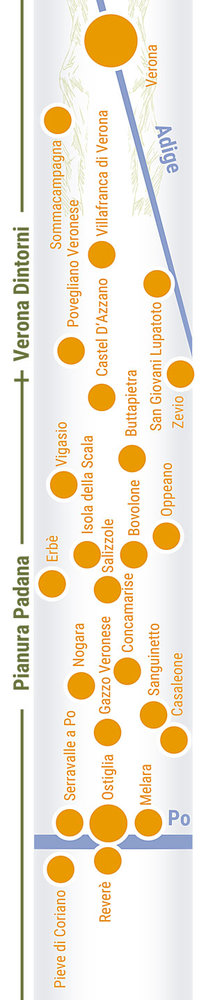Übersichtskarte rechts Teilabschnitt 39p Pianura Padana