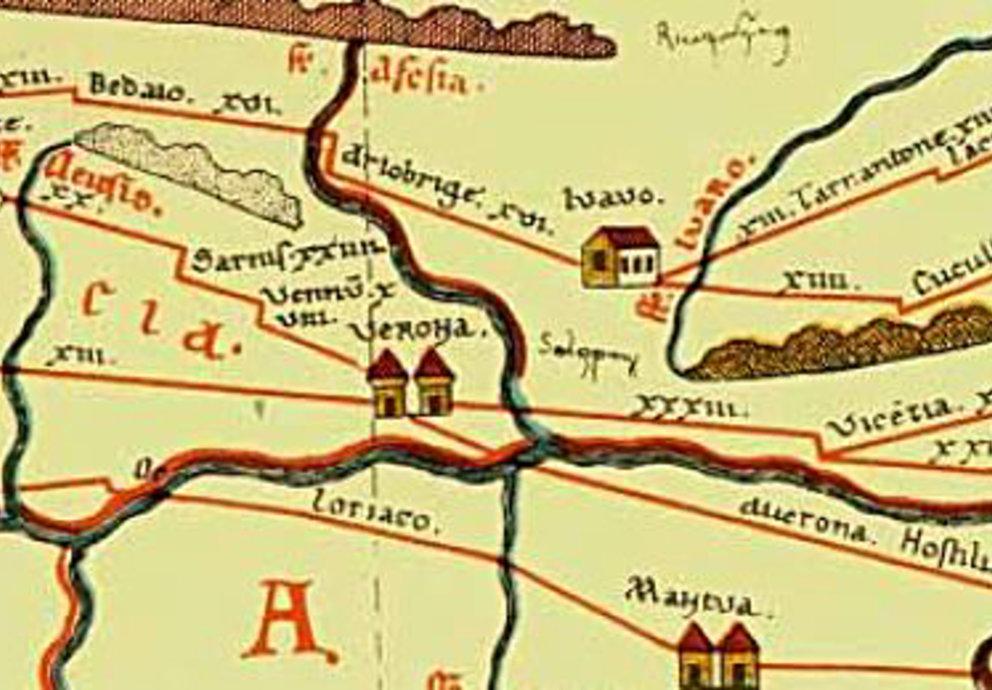 Verona In The Tabula Peutingeriana