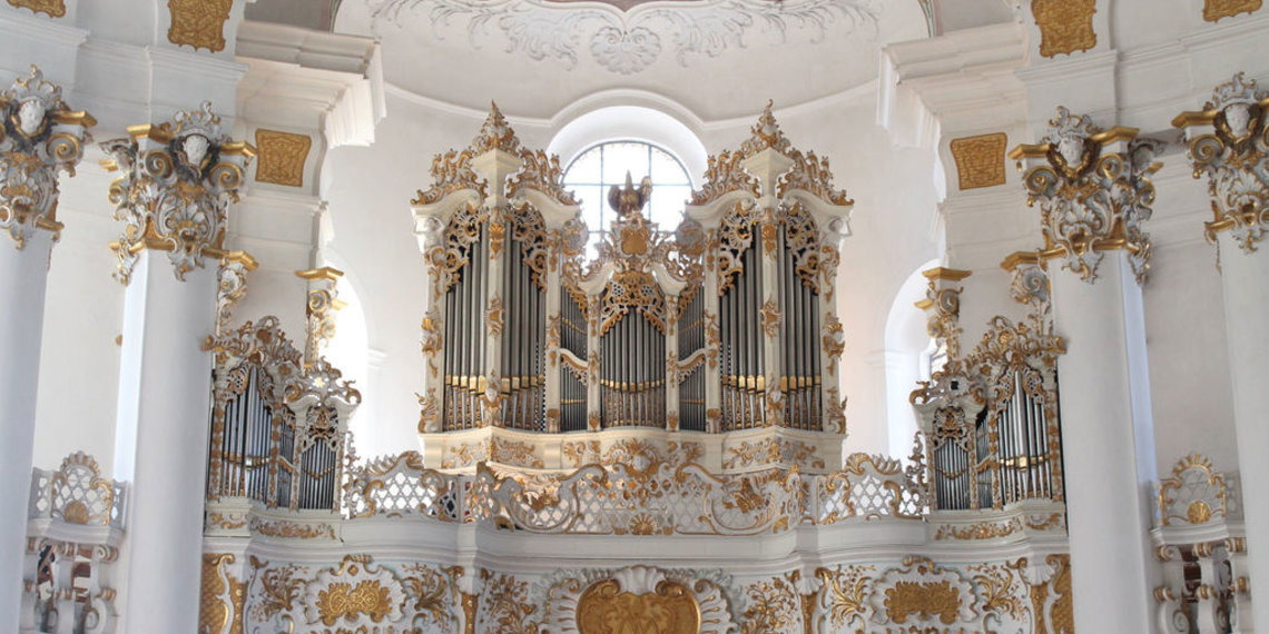 Wieskirche Orgel, Pfaffenwinkel, Weilheim, Foto Wikimedia Mtag