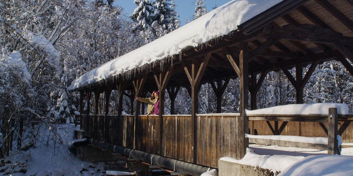 Winter Brücke Reutte
