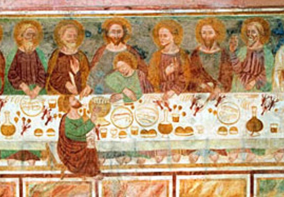 San Vittore E Corona Affresco Fresko Abendmahl
