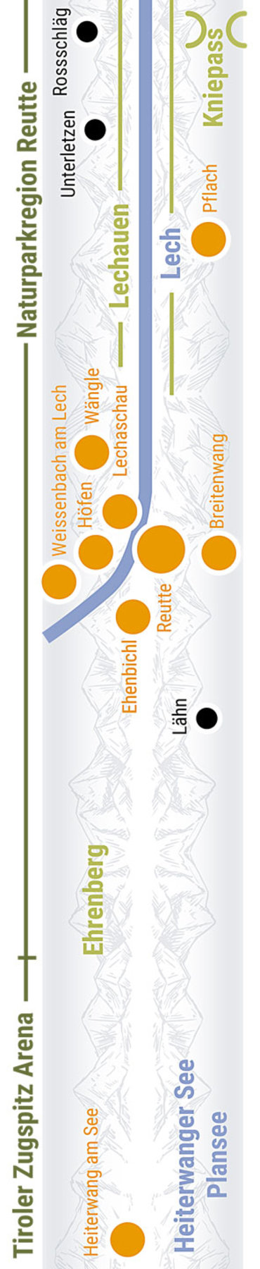 Übersichtskarte rechts Teilabschnitt 11 Reuttener Becken, Ehrenberg