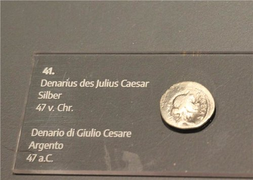 Denar des Julius Cesar Museum