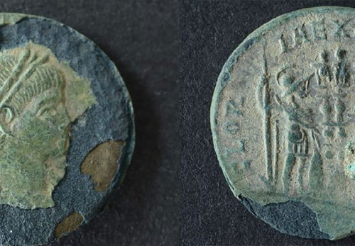 Römische Münze Nordendorf Vorne und Hinten