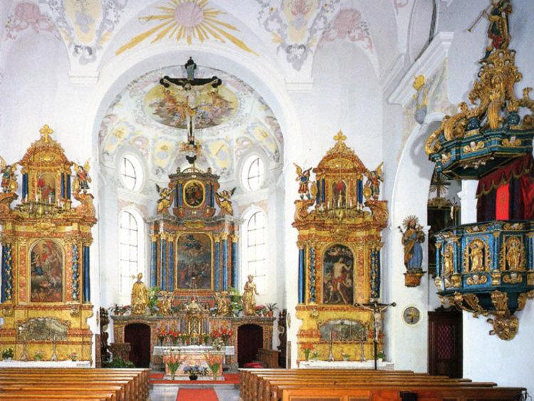 Vils Tirol Stadtpfarrkirche, Foto Milz Werbung Füssen
