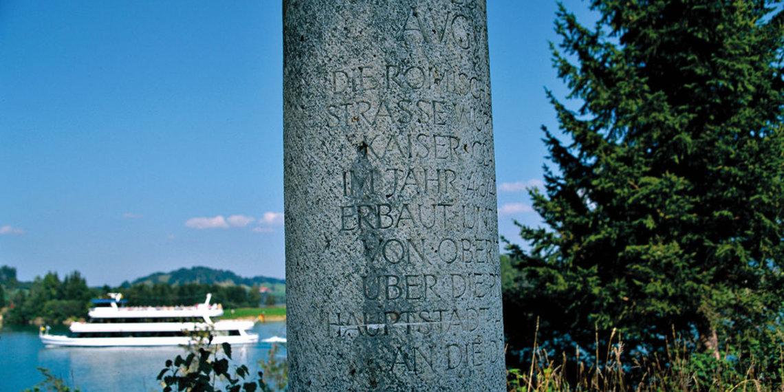 Forggensee, Schiff, Meilenstein, Tiefental, Rieden Am Forggensee, Ostallgäu, Foto Lois Lammerhuber