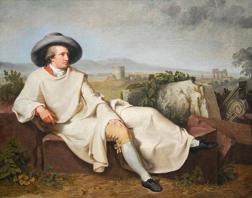 Goethe während seiner berühmten italienischen Reise