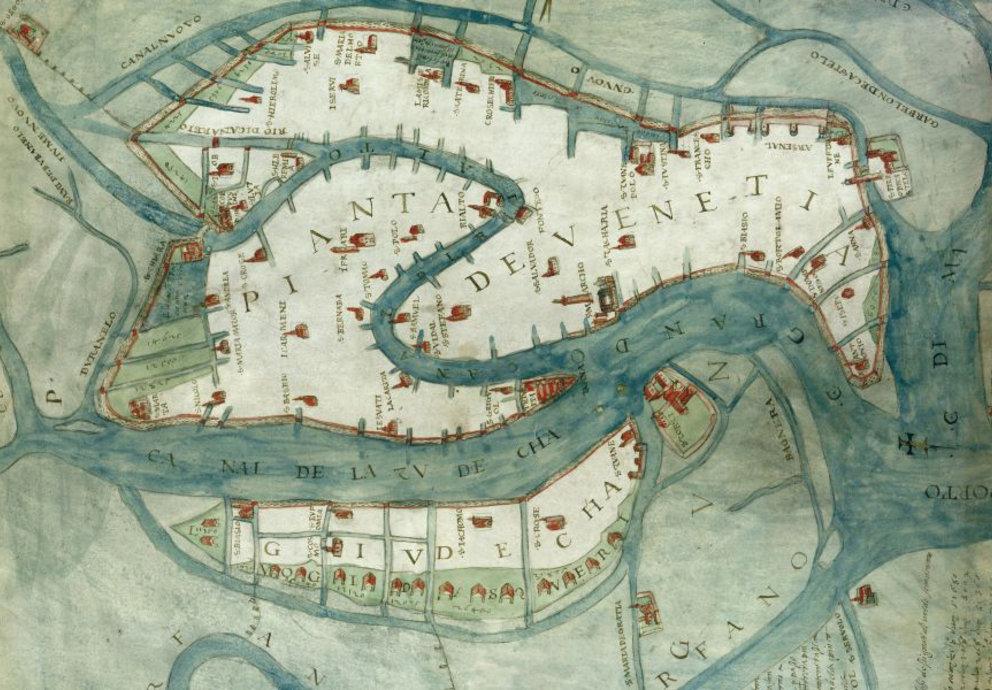 Alte Karte Venezia Sabbadino 1557