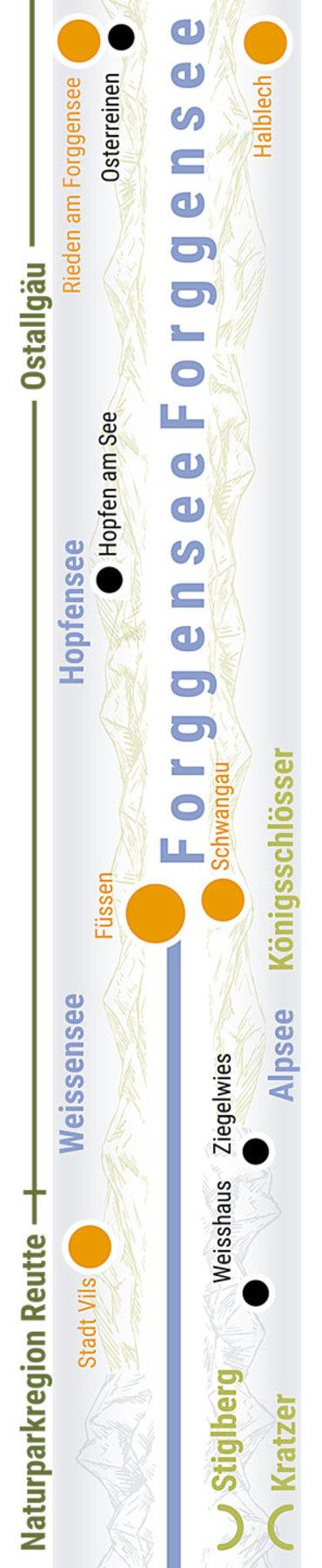 Übersichtskarte rechts Teilabschnitt 09 Füssen Schwangau