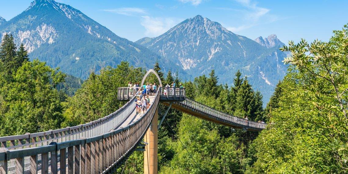 Baumkronenweg Ziegelwies, Foto Walderlebniszentrum