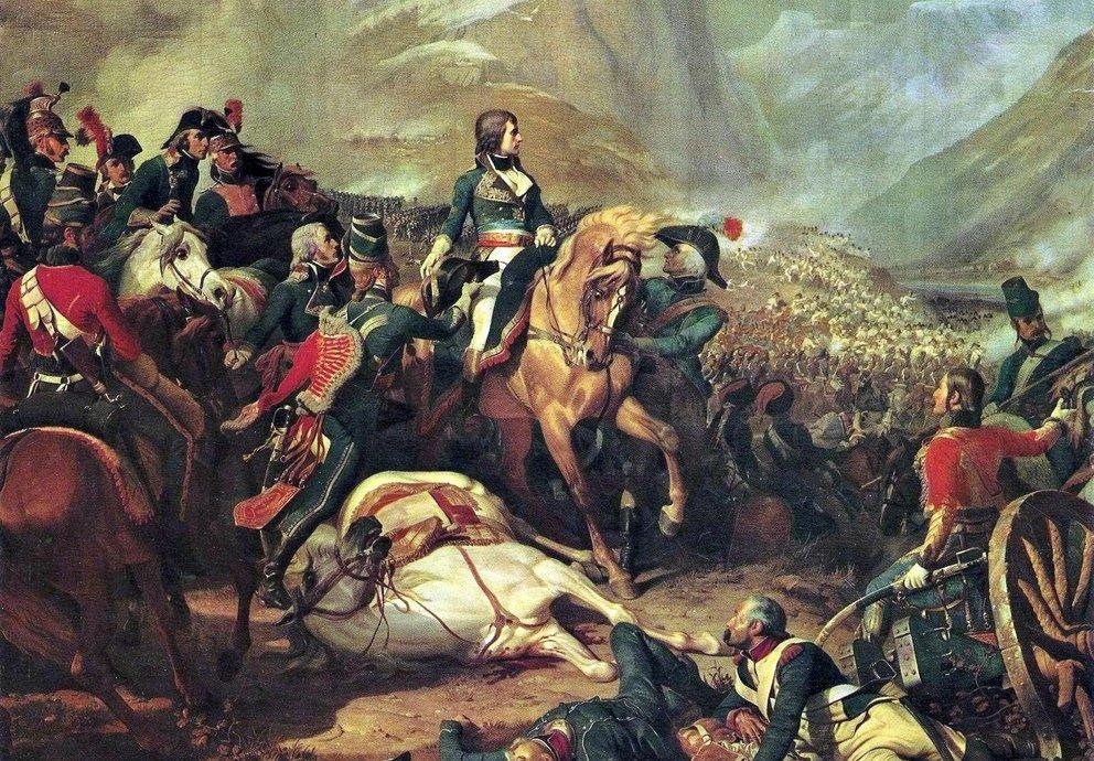 Napoleon in der Schlacht von Rivoli