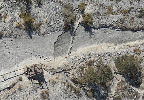 Luftaufnahme Dino Spuren