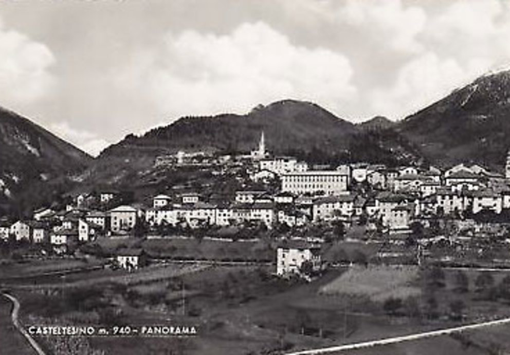 Cartolina Storica Castello Tesino