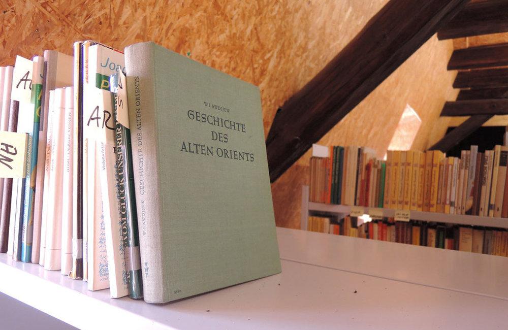 Bild Schmökern, Titel Bibliothek