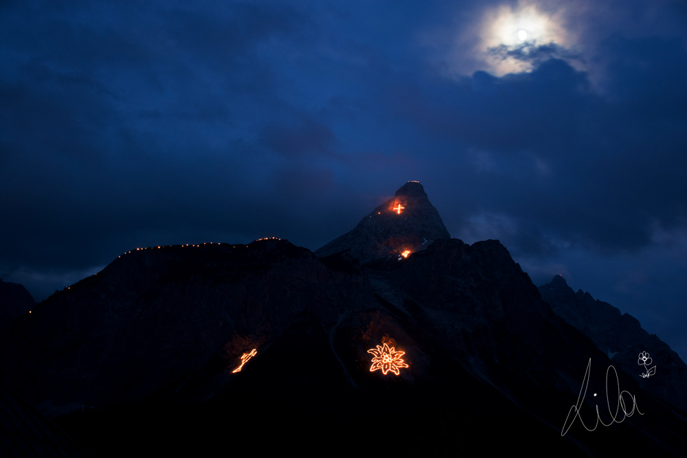 World cultural heritage: The mountain fire of Ehrwald